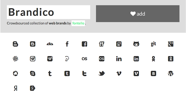 we love font icons