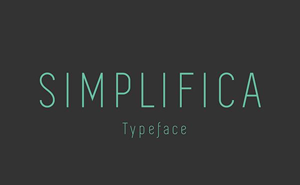 fuentes minimalistas