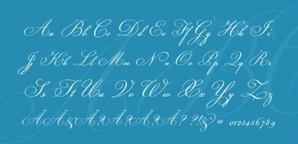 fuentes caligraficas