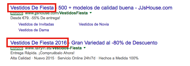 titular adwords