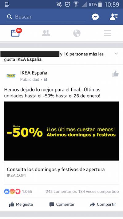 campaña facebook ikea
