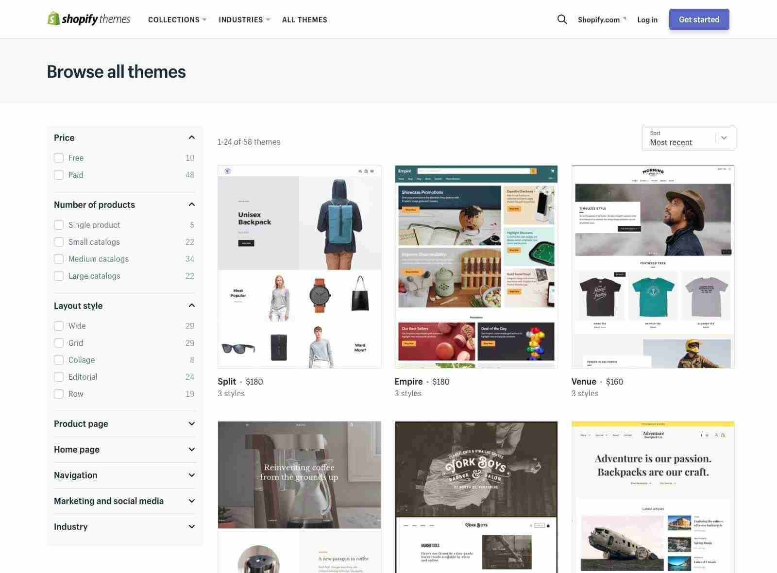 Cómo elegir la plantilla perfecta para tu tienda online Shopify