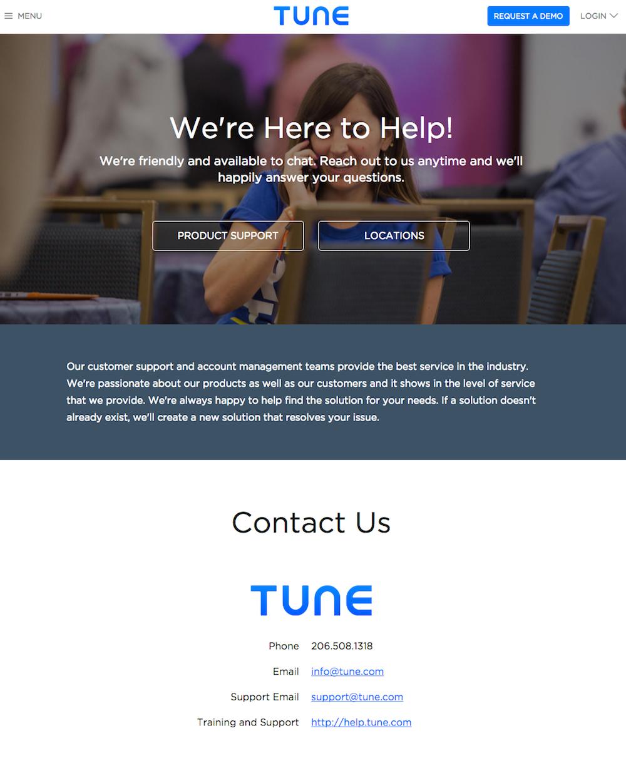 página de contacto