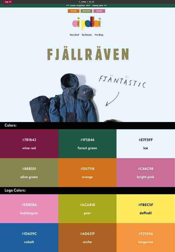 10 esquemas de colores para dise ar una tienda online for Best online sale sites
